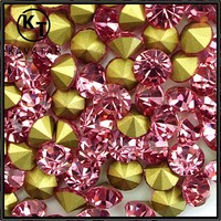 Pink 5mm crystal point back rhinestones