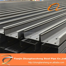 iron beam price and steel channel with punching