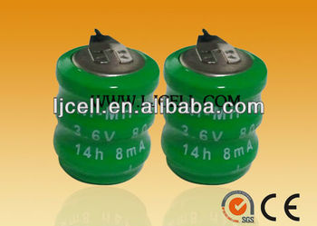 3.6V 80mAH rechargeable ni-mh battery pack battery manufacturer