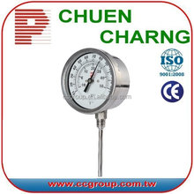 HIGH OR LOW TEMPERATURE BIMETAL THERMOMETER