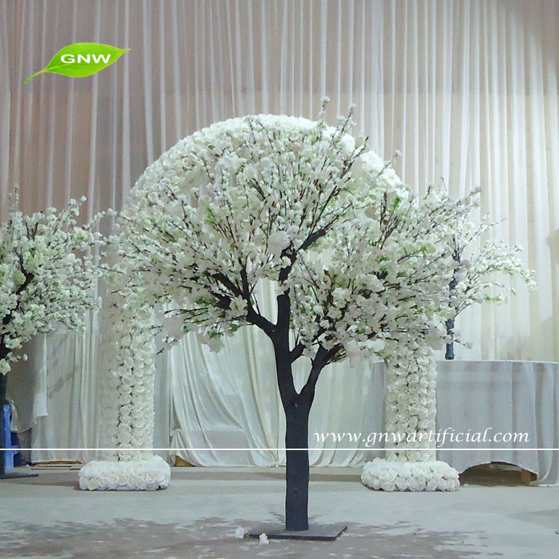 Gnw Bls1601001artificial Trees Cherry Blossoms For Wedding Stage ...