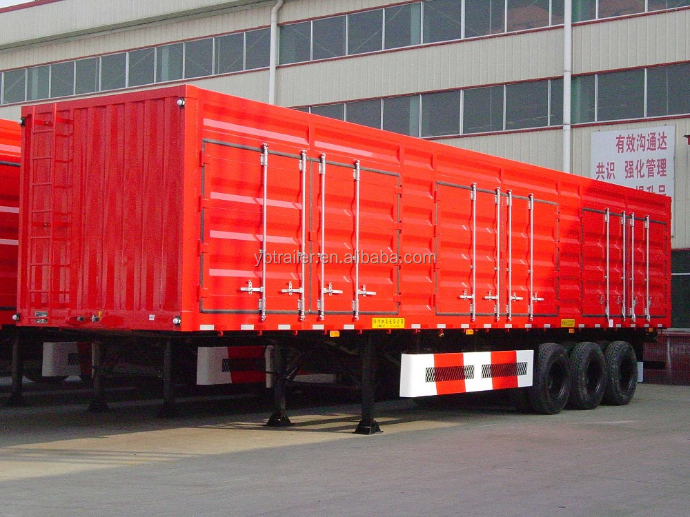 3 BPW axle box van type enclosed cargo semi truck trailer