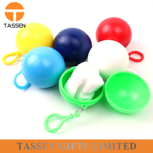high quality cheap keychain ball with white poncho plastic doll toy Disposable Raincoat