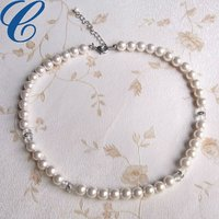 2012 cheap fake pearl necklace/8mm plastic pearl/ecofriendly