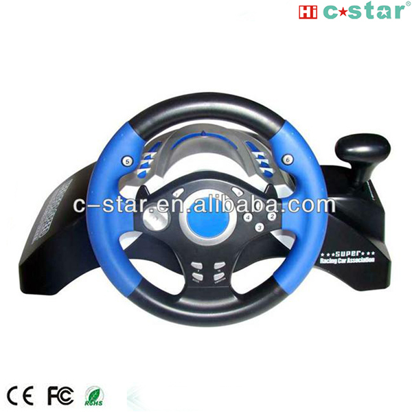 2017 Video game steering wheel for PS3/PS2/PC racing wheel racing, game accessory