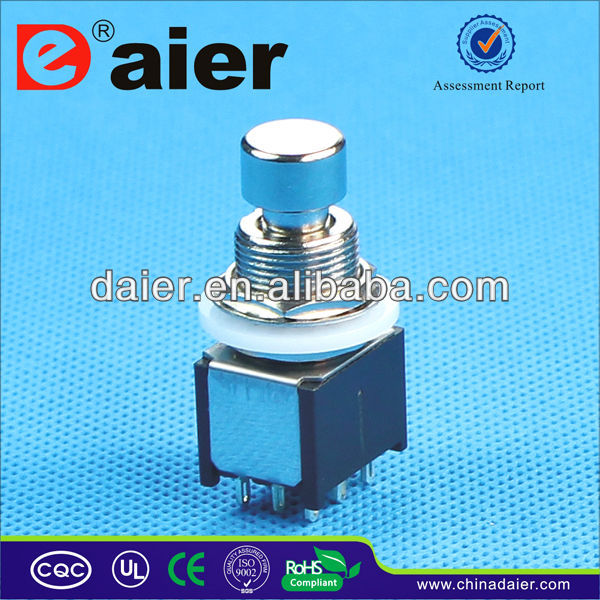 Small 3pdt push button foot switch