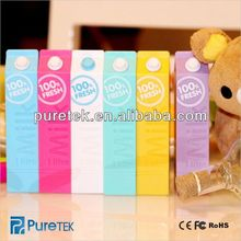 abs Mobile Power bank milk,rohs power bank,cute milk Mobile Extra Power