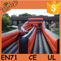 2 line inflatable bungee run for game event race