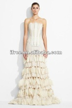 2013 new arrival shockingly skimpy rayon ivory beaded off-shoulder wedding dress