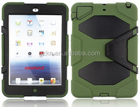 2015 Latest manufacturer directing hard heavy duty unbreak Case popular Armor kickstand rugged case For iPad mini mini2