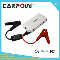 White Color Hot Sale 12000mAh Carpow 400A Peak Current 12V Jump Starter