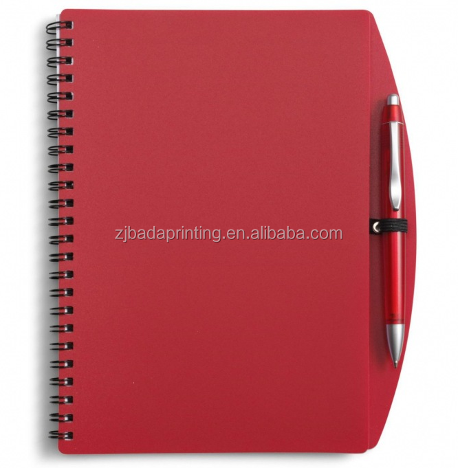 PP Cover Notebook With Pen, Custom Notebook With Logo Printed
