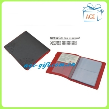 soft leather business name card case card holder