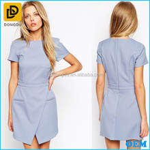 2014 latest design women wear asymmetry office dress