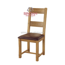 316 Natural chunky solid oak wooden UKFR PU seat chair/dining room furniture