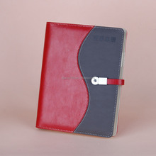 2016 Stiching PU leather notebook with USB DRIVER