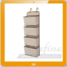 4-pocket Baby Nursery Over-the-door Diaper & Accessory Organizer