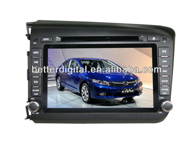 Navigation system for car honda civic 2012