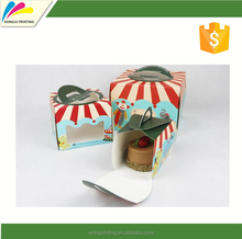 colored printing cup cake box with best price