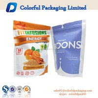 factory price custom design cereal packaging with resealable ziplock