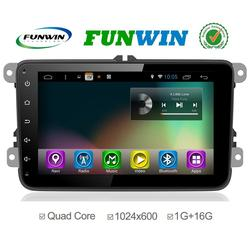 Funwin Android 4.4.2 car radio 2 din for vw Magotan car gps navigation TV tuner