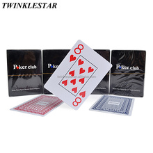 In Stock Casino Poker Cards Poker Club Jumbo Index 100% Waterproof PVC Plastic Playing Cards