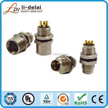 m12 male panel mount shield connector, moulded with high quality cable M5 M8 M12 M16 M23 connector