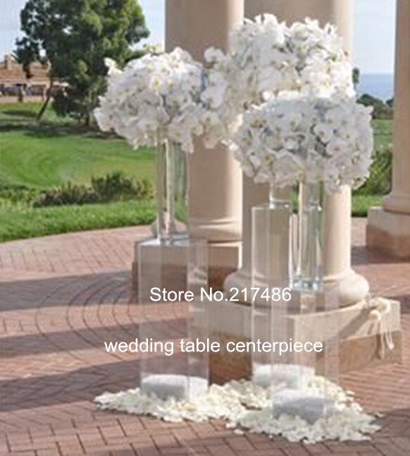 new arrival wedding table decoration/ party tableacrylic crystal aisle stand for wedding stage decoration