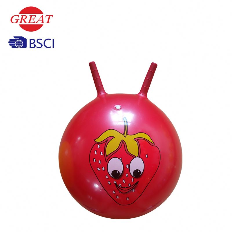 Inflatable space hopper ball in rose pink color