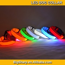 20pcs Wholesale Double Sides Light Safety Walk Dog Flashing Collar 7 Color Nylon LED Dog Collar for Pet Event Party C2504