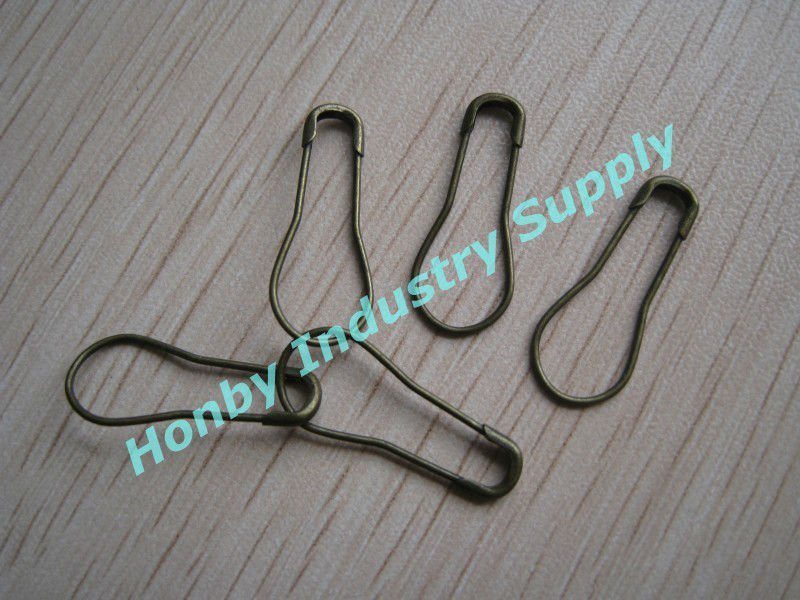 Classic Bronze 22mm Steel Pear Safety Pin for Garment Tag