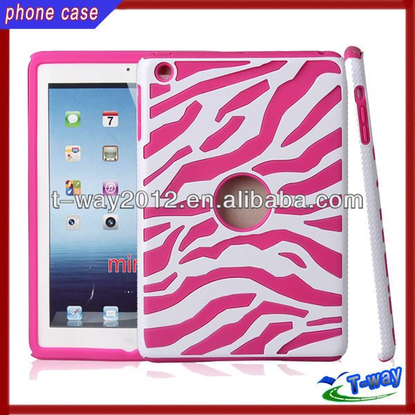 2013 Hybrid zebra design for ipad mini slim case