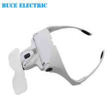 Acrylic Lens Handband Free Eyeglasses Magnifying Glass With LED Light