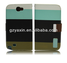 Hot Flip for samsung galaxy note 2 leather case