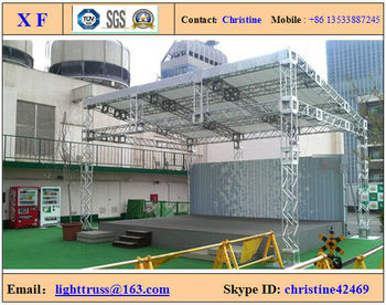 aluminum stage truss / performance truss / display box truss