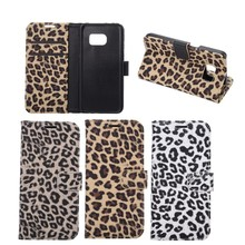 For Samsung Galaxy S7 Leopard Texture PU Leather Wallet Stand Case, for samsung galaxy s7 cover