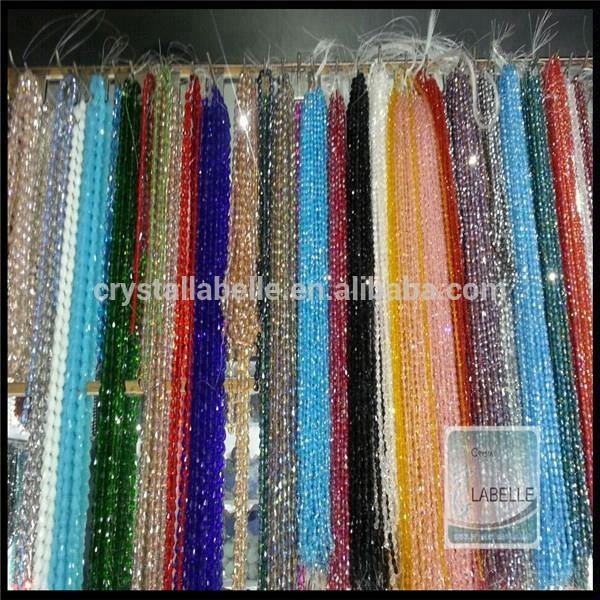Yiwu Crystal Beads, Pujiang Faceted Rondelle Glass Beads Factory