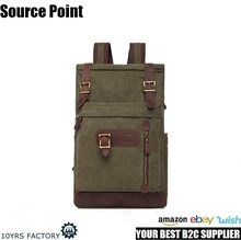 YD-1896 Durable large capacity outdoor 50L men canvas rucksack hiking backpack for traveling