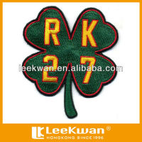 Soccer Team Four Leaf Clover Shape Embroidery Patch