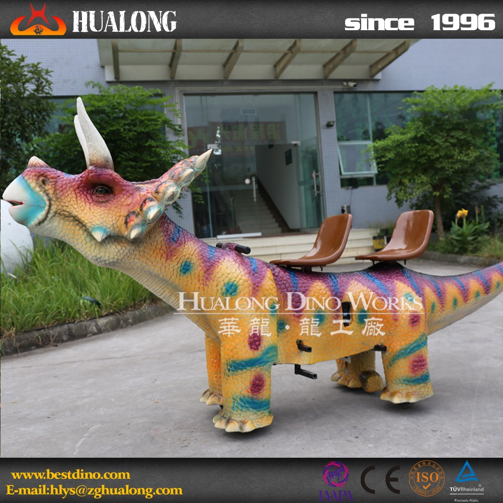 Kids Attraction Interactive Animated Artificial Walking Dinosaur
