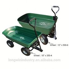 Poly Garden Dump Cart with Steel Frame