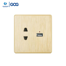 Modern design GOG 10A universal usb wall socket usa charger