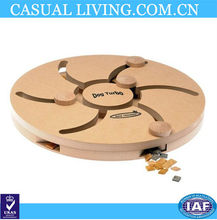 Interactive Wooden Puzzle Dog Toy for training a dog