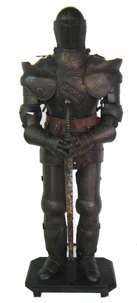 Medieval Armor Suit with Sword Knight Armour Suit Medieval Full Body Armor