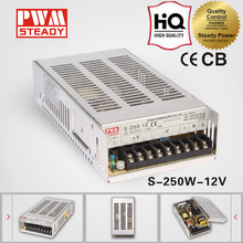 S series CE Certificate 250w 12 volt 20amp single switching power supply S-250-12