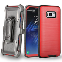 For Samsung Galaxy S8 PLUS/S8 Edge Brushed Phone Case Shockproof Hard Cover