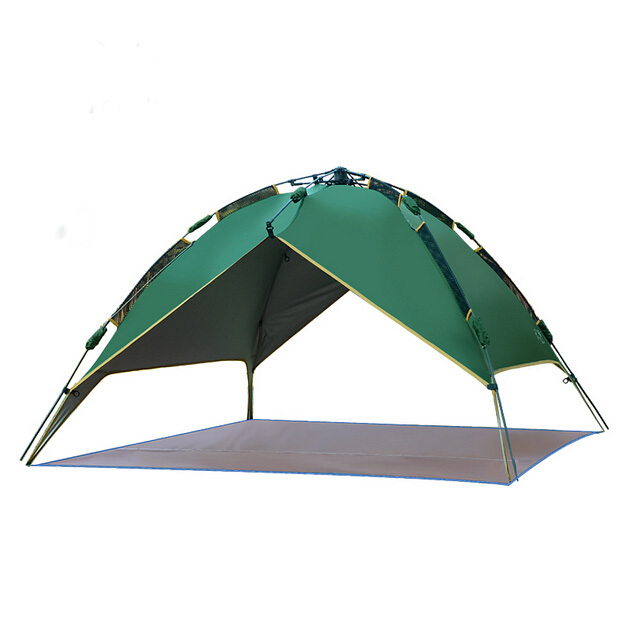 Mountaineering 3-4 Person Folding Tent Portable Aluminum Rod Anti-UV Camping Tents Outdoor Play House Tent