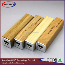 Mobile power supply powe bank 2600mAH Wood shell Port External Battery Pack Power Bank Backup Powers For Cellphone
