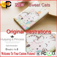 Original illustration sweat cats 7 inch tablet case for ipad mini