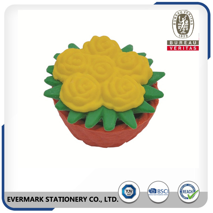Factory Wholesale Hot-Selling Sale Novelty 3D Flower Shaped Pencil Rubbers Erasers 2.8*2.8*1.8Cm
